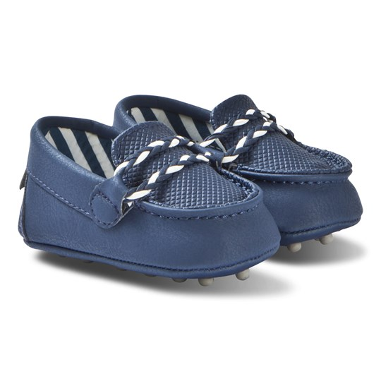 Mayoral Navy Moccasins with Plait Detail Crib Shoes 20