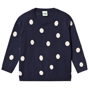 Image of FUB Dot Sweater Navy 110 cm (4-5 år) (3125358381)