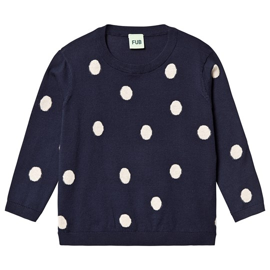 FUB Dot Blouse Navy Navy