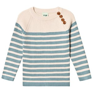 Image of FUB Sweater Ecru Blue 120 cm (6-7 år) (3125358643)