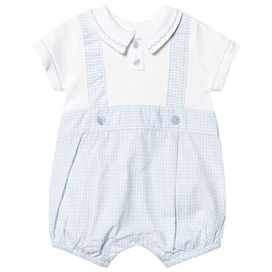 Image of Mintini Baby Blue/White Check Romper 1 months (3125295453)