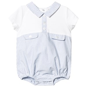 Image of Mintini Baby Blue/White Stripe Romper 3 months (3125301655)