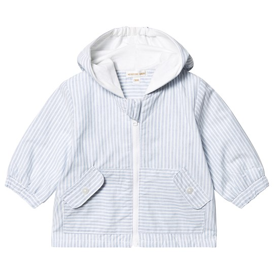 Mintini Baby Blue/White Stripe Cotton Jacket Blue