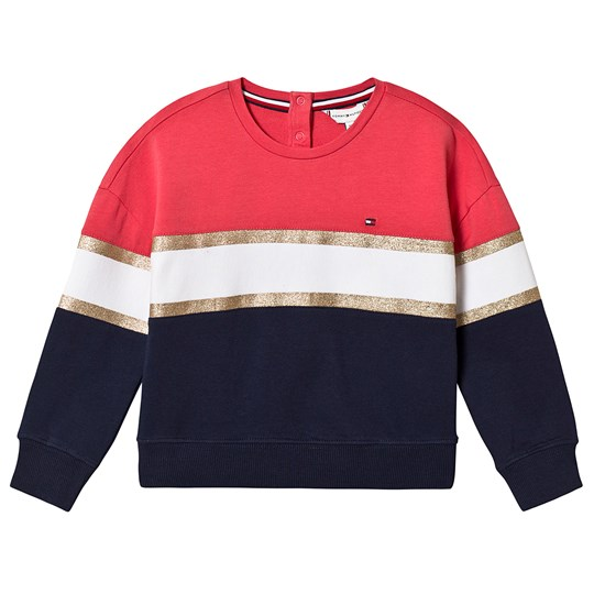 Tommy Hilfiger Red White and Navy Glitter Sweatshirt 616