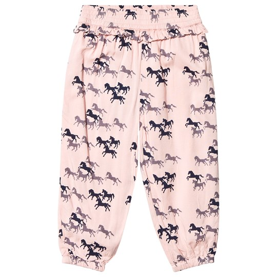 Minymo All Over Print Pants Blossom Pink Blossom
