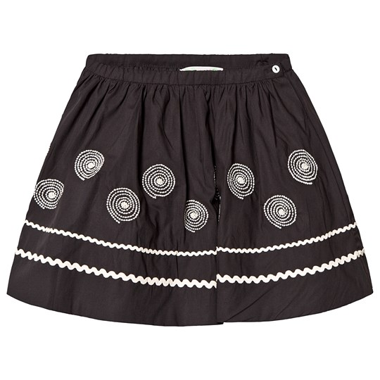 Bonpoint Embroidered Swirl Skirt Black 199A