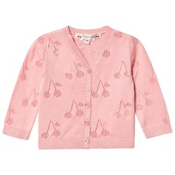 Bonpoint Pink Cherry Knitted Cardigan