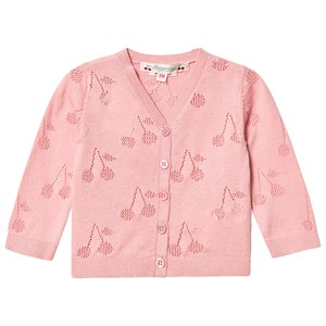 Image of Bonpoint Pink Cherry Knitted Cardigan 12 months (3139763983)