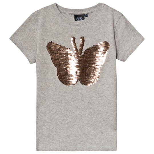 Petit by Sofie Schnoor Flippy Butterfly Tee Light Grey Melange Light Grey Melange