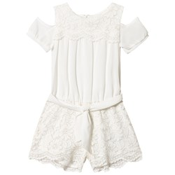 Mayoral Off White Lace Playsuit