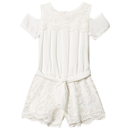 Mayoral Off White Lace Playsuit 50