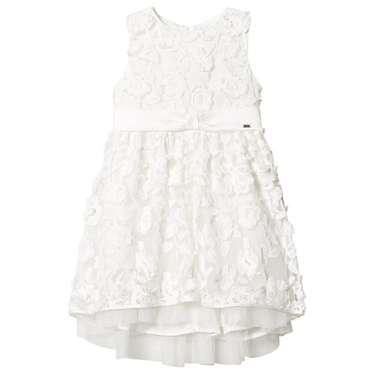 Mayoral Embossed Tulle Flowers Dress Off White 91