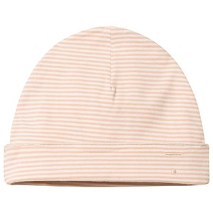 Image of Gray Label Baby Beanie Pop/Cream Stripe 0-6 mdr (3125248103)