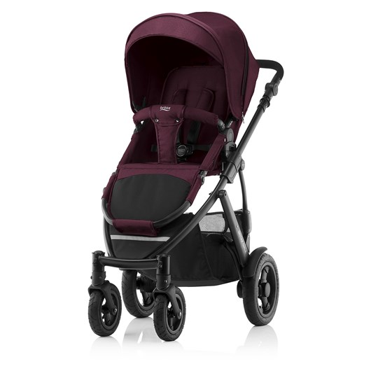 Britax Smile 2 Barnvagn Wine Red Wine Red Denim