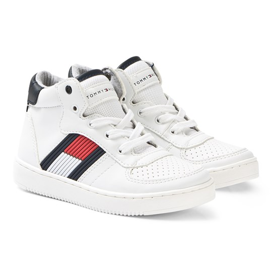 Tommy Hilfiger Logo High Top Sneakers Hvid X008