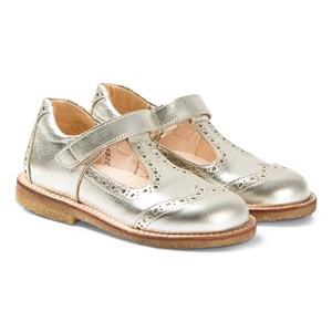 Image of Angulus Champagne Gold Brogue T Bar sko 20 (UK 4) (3125312681)