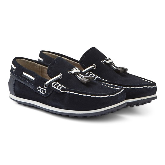 Mayoral Leather Moccasins Navy 59