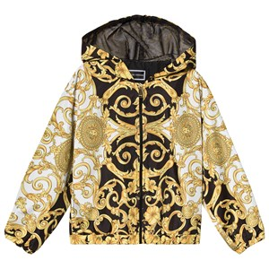 Image of Versace Black and Gold Baroque Hooded Windbreaker 4 years (3125293201)