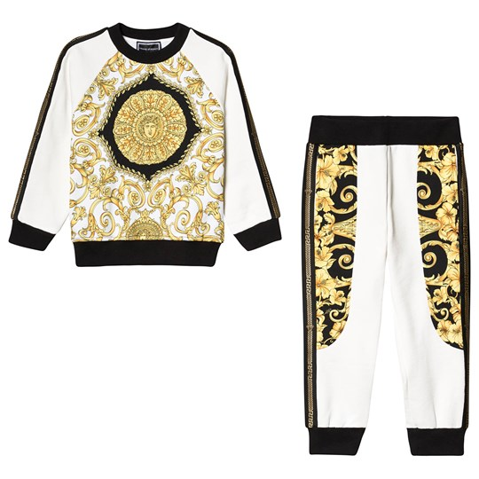 Versace - White, Gold and Black Baroque Print Tracksuit