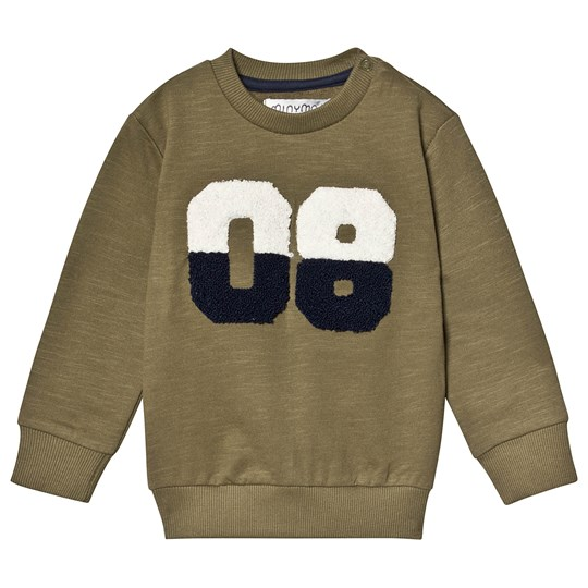 Minymo Sweatshirt with Teddy Print Burnt Olive Burnt Olive