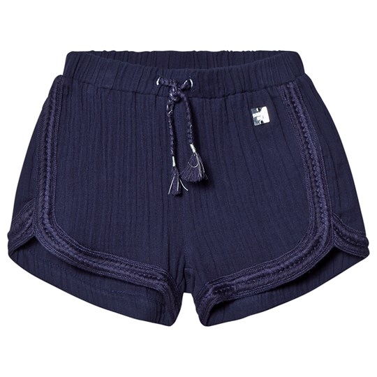 Carrément Beau Navy Shorts with Elasticated Drawstring Waist 85T