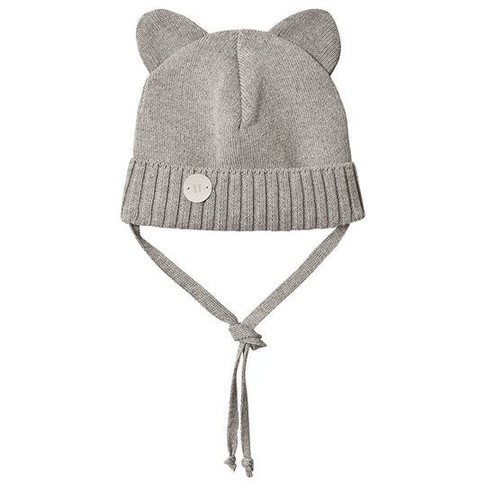 Huttelihut Mini Bear Hat Light Grey Lt Grey