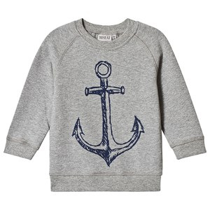 Image of Wheat Anchor Sweatshirt Melange Grey 104 cm (3-4 år) (3125334335)