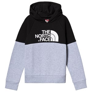 Image of The North Face Grey and Black Branded Hoodie L (14-16 years) (3125315983)