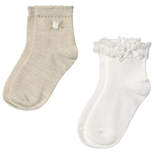 Image of Mayoral 2-Pack Ruffle Sock Cream/Gold 2 years (3125342289)