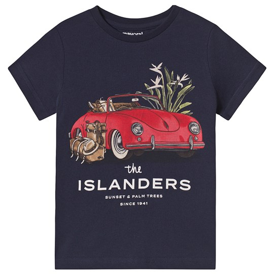 Mayoral Islanders Car Print Tee Navy 84