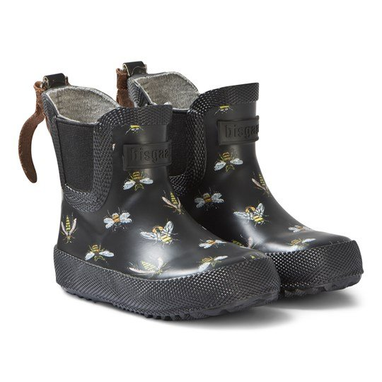 Bisgaard Rubber Baby Boots Black Bees Black Bees
