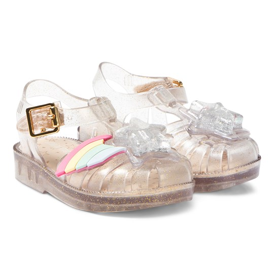 Mini Melissa Clear Glitter Rainbow Sprite Jelly Sandal 3519