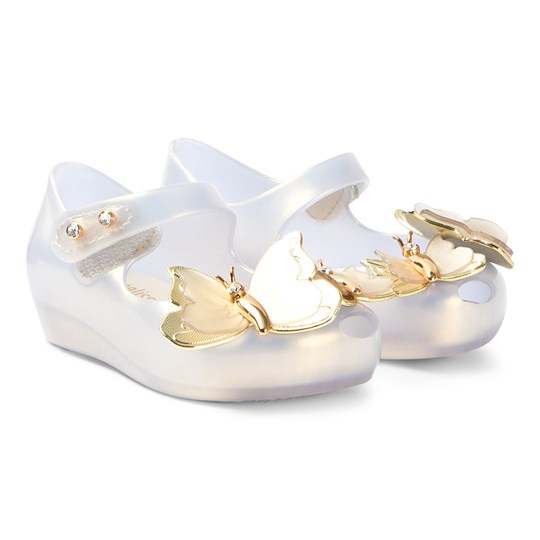 Mini Melissa Frost Pearlised Ultragirl Flutter Shoes 53449