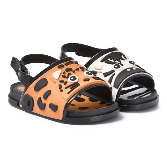 Mini Melissa Leopard and Zebra Character Sandals 53456