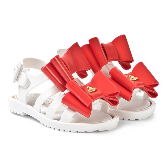 Mini Melissa White and Red Bow Vivienne Westwood Flox 50488