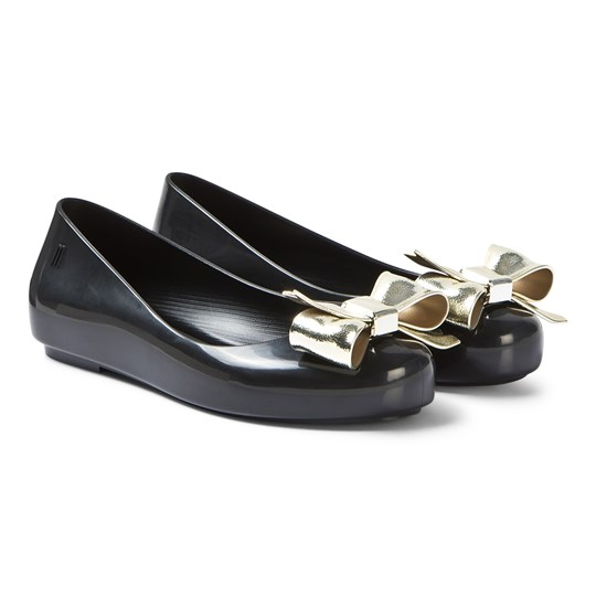 Mini Melissa Black Dream Bow Ballerina Shoes 50816