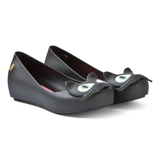 Mini Melissa Black Ultragirl Cat Ballerina Shoes 50837