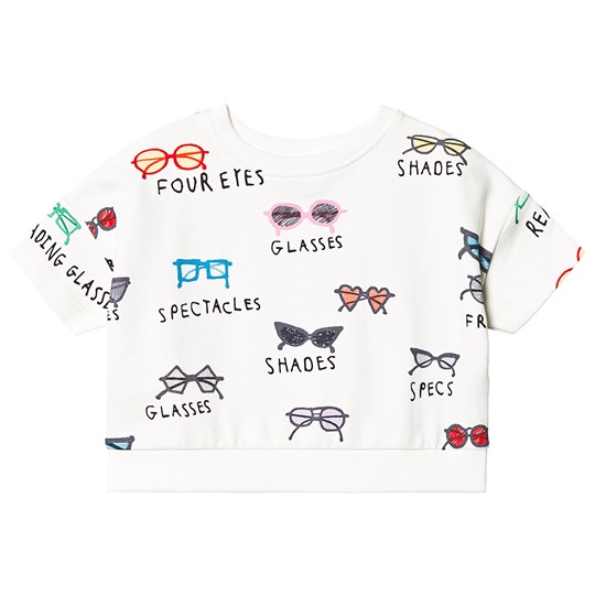 Beau Loves Spectacles Cropped Sweatshirt Ecru Ecru, Spectacles, Various