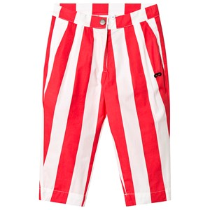 Image of Beau Loves Deck Chair Stripe Chino Pants Ecru/Tomato Red 2-3 år (3125353569)