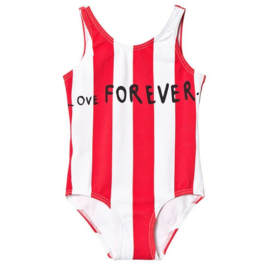 Beau Loves Deck Chair Stripe Swimsuit Ecru/Tomato Red Ecru/Tomato Red Stripes