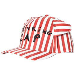 Beau Loves Deck Chair Stripe Cap with Ears Red/White