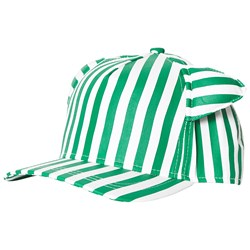 Beau Loves Stripe Cap with Ears Green/White