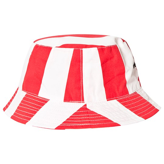 Beau Loves Deck Chair Stripe Bucket Hat Ecru/Tomato Red Ecru/Tomato Red, Stripes