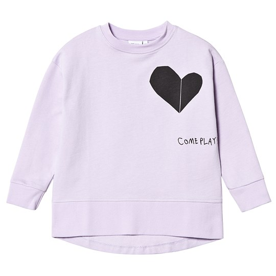 Beau Loves Come Play Relaxed Sweatshirt Violet Violet, Come Play (Heart) Black, Love Is Old, Love