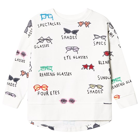 Beau Loves Spectacles Relaxed Sweatshirt Ecru Ecru, Spectacles, Various
