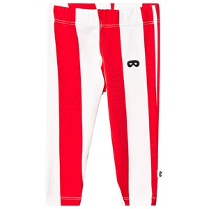 Image of Beau Loves Deck Chair Stripe Baby Leggings Ecru/Tomato Red 12-18 mdr (3125351747)
