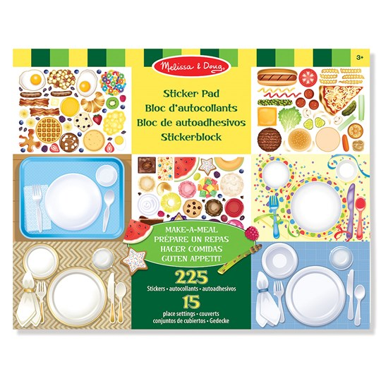 Melissa & Doug Make-a-Meal Klistermärken Set Beige