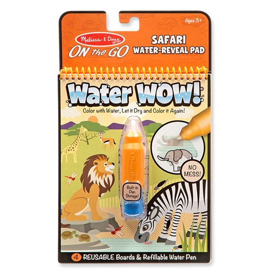 Melissa & Doug Water Wow! Magic Coloring Book - Safari Green
