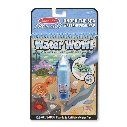 Melissa & Doug Water Wow! Magic Coloring Book - Under the Sea Blue