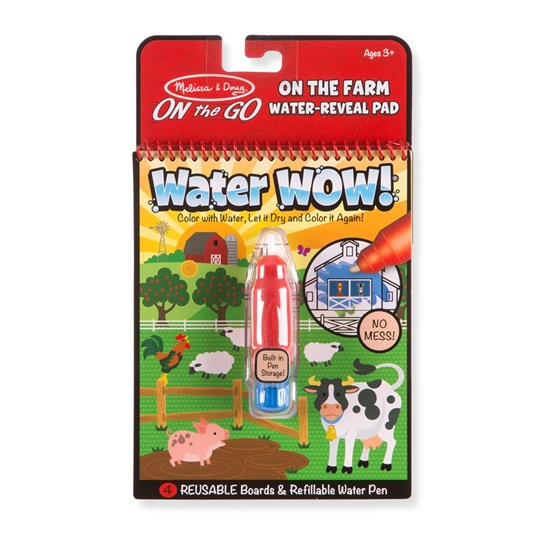 Melissa & Doug Water Wow! Magic Coloring Book - Farm Red